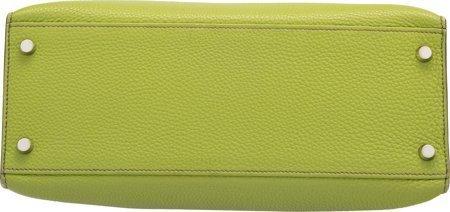 58147: Hermes 28cm Vert Anis Togo Leather Sellier Mou K - 4