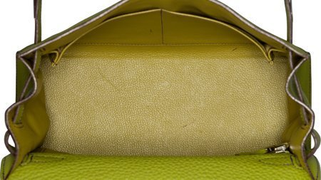 58147: Hermes 28cm Vert Anis Togo Leather Sellier Mou K - 5