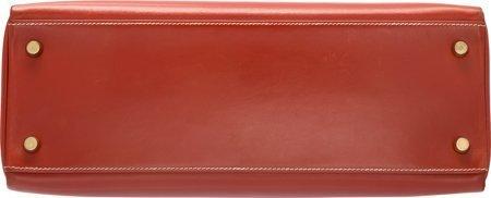 58360: Hermes 32cm Brick Calf Box Leather Retourne Kell - 4