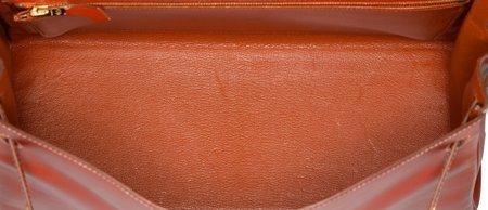 58360: Hermes 32cm Brick Calf Box Leather Retourne Kell - 5