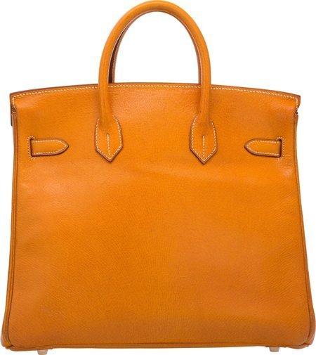 58370: Hermes 32cm Natural Peau Porc Leather HAC Birkin - 2