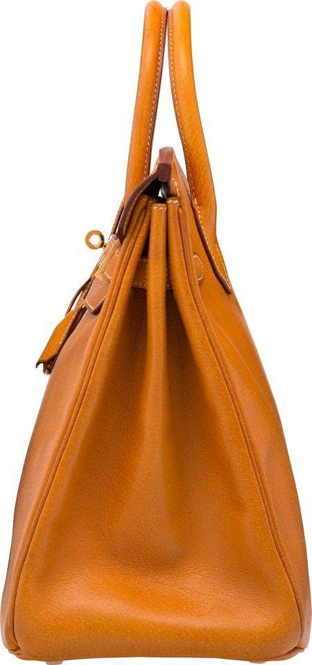 58370: Hermes 32cm Natural Peau Porc Leather HAC Birkin - 3