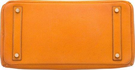 58370: Hermes 32cm Natural Peau Porc Leather HAC Birkin - 4