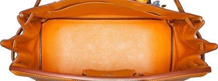 58370: Hermes 32cm Natural Peau Porc Leather HAC Birkin - 5