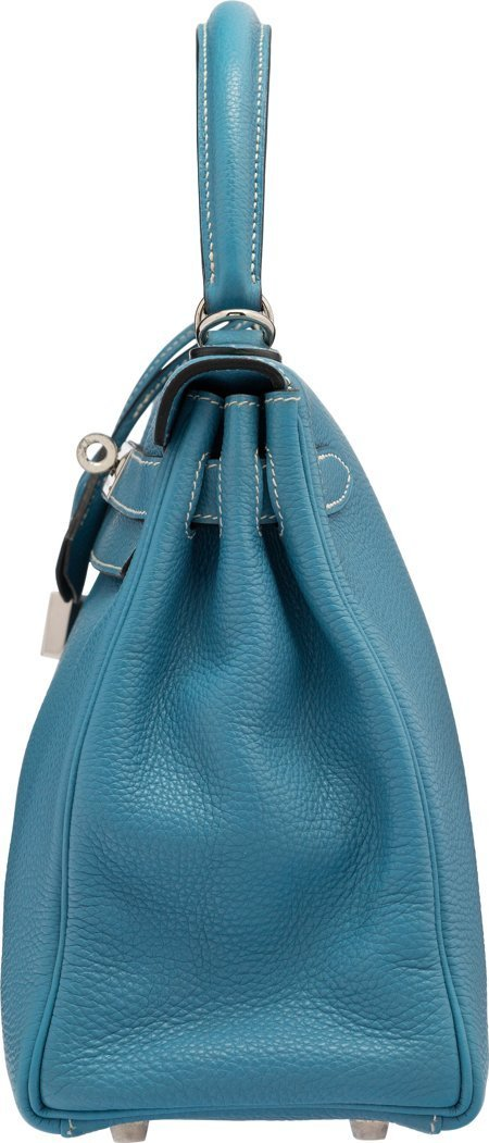 58188: Hermes 28cm Blue Jean Togo Leather Retourne Kell - 3