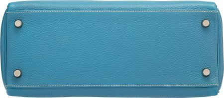 58188: Hermes 28cm Blue Jean Togo Leather Retourne Kell - 4