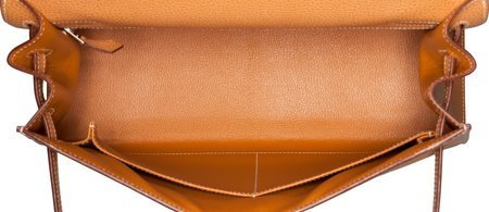 58374: Hermes 32cm Natural Vache Liegee Leather Sellier - 5