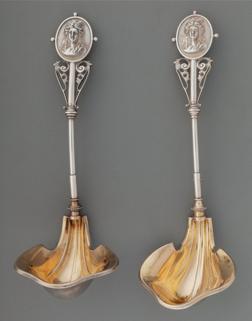 74417: A Pair of Wood and Hughes Medallion Pattern Part