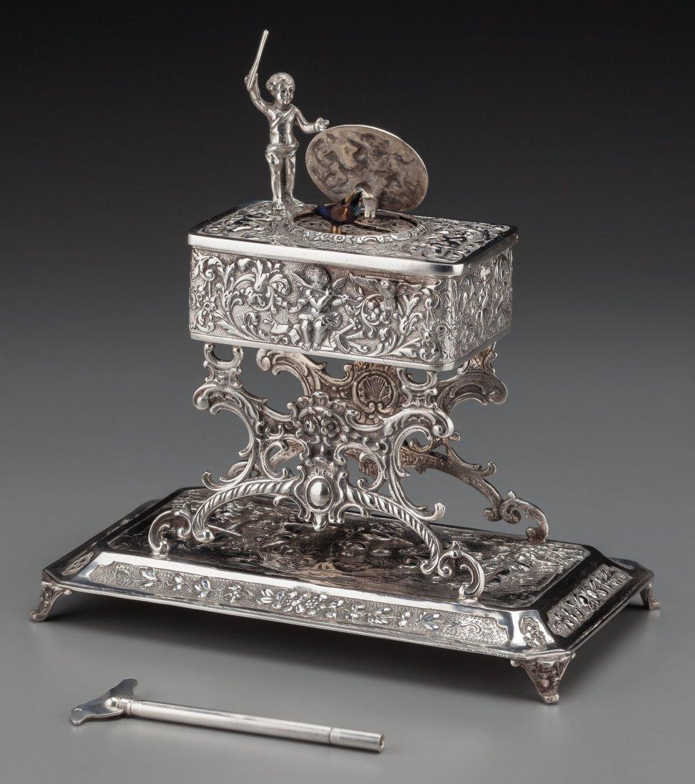 74219: A Johann Kurz & Co. Silver Singing Bird Automato