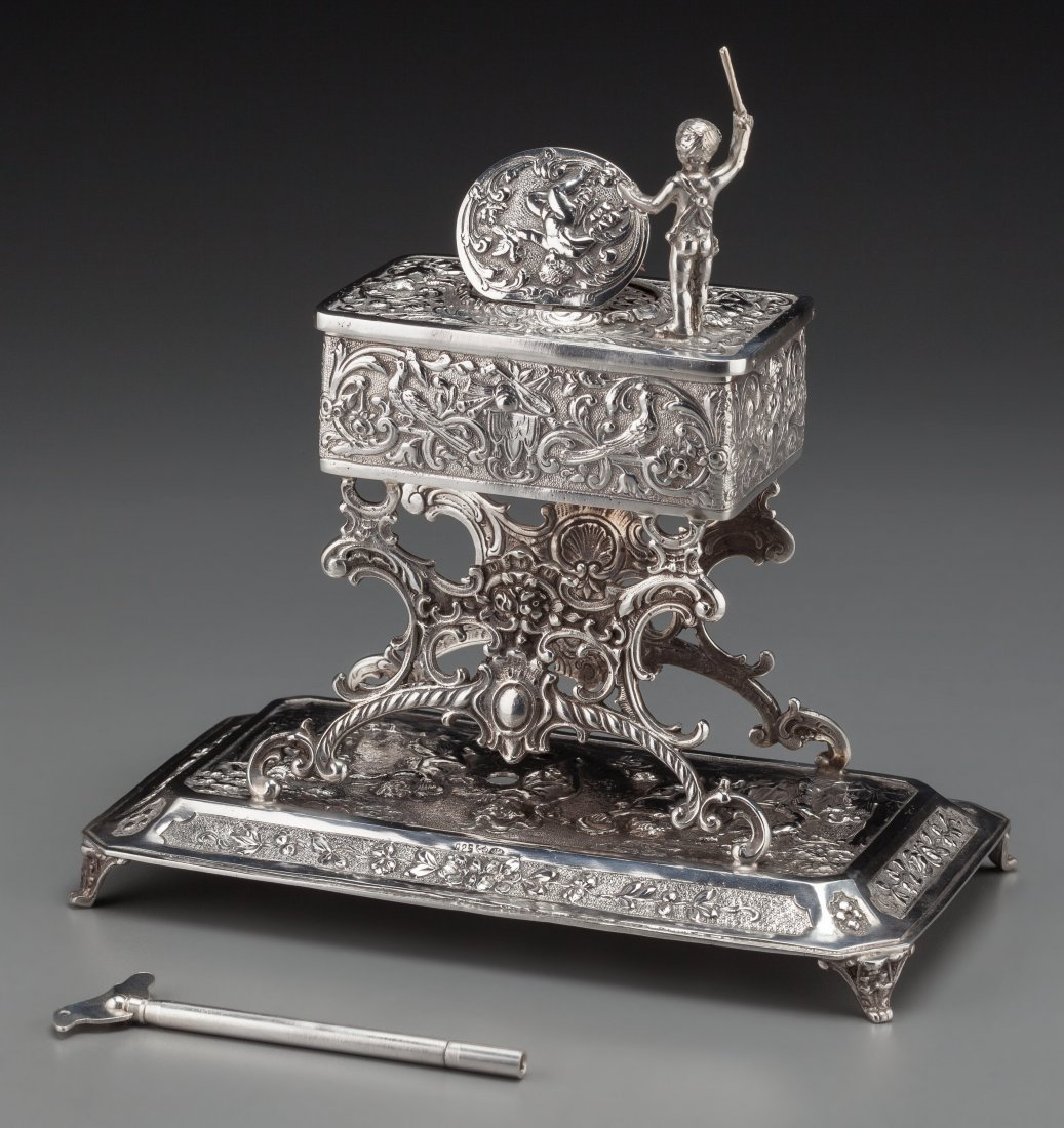 74219: A Johann Kurz & Co. Silver Singing Bird Automato - 2