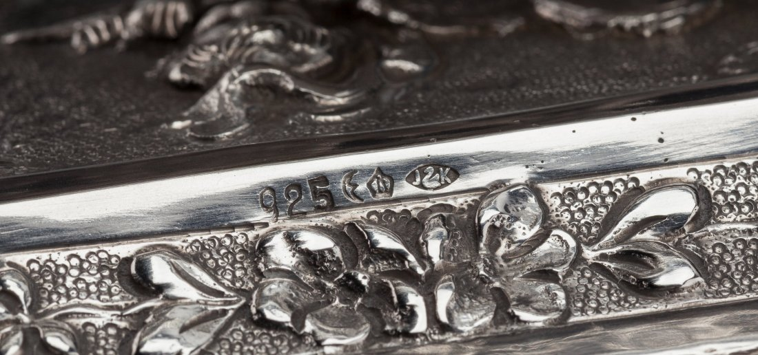 74219: A Johann Kurz & Co. Silver Singing Bird Automato - 3