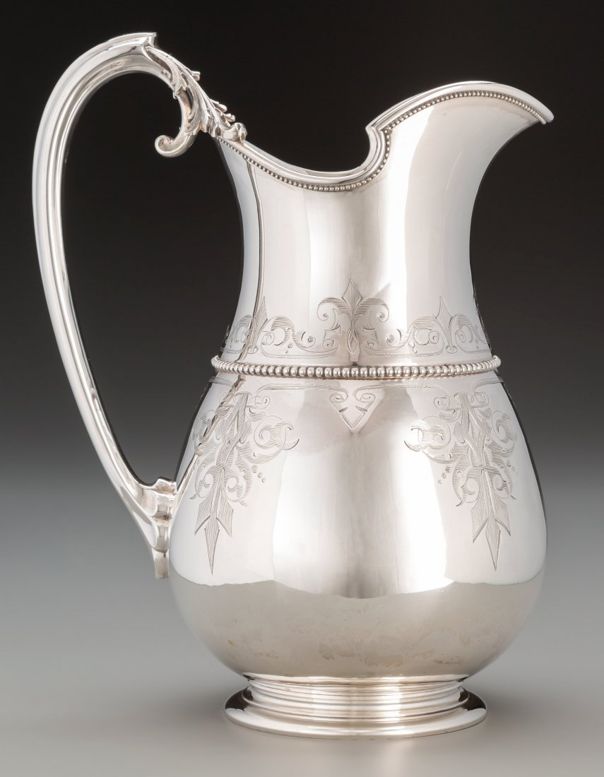 74143: A Gorham Coin Silver Water Pitcher, Providence,