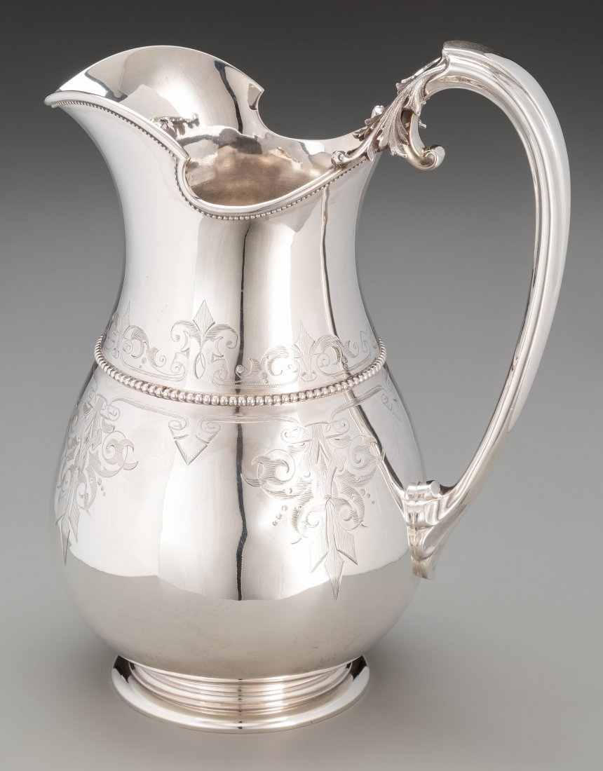 74143: A Gorham Coin Silver Water Pitcher, Providence,  - 2