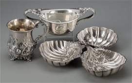 74425 Three Silver Table Items late 19thearly 20th c