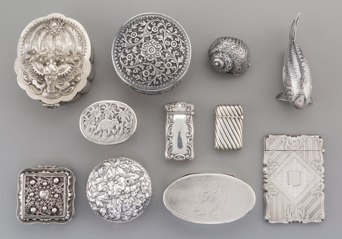 74542: A Group of Eleven Silver Articles, 19th-20th cen