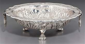 74566 A South American SilverPlated Footed Bowl 20th