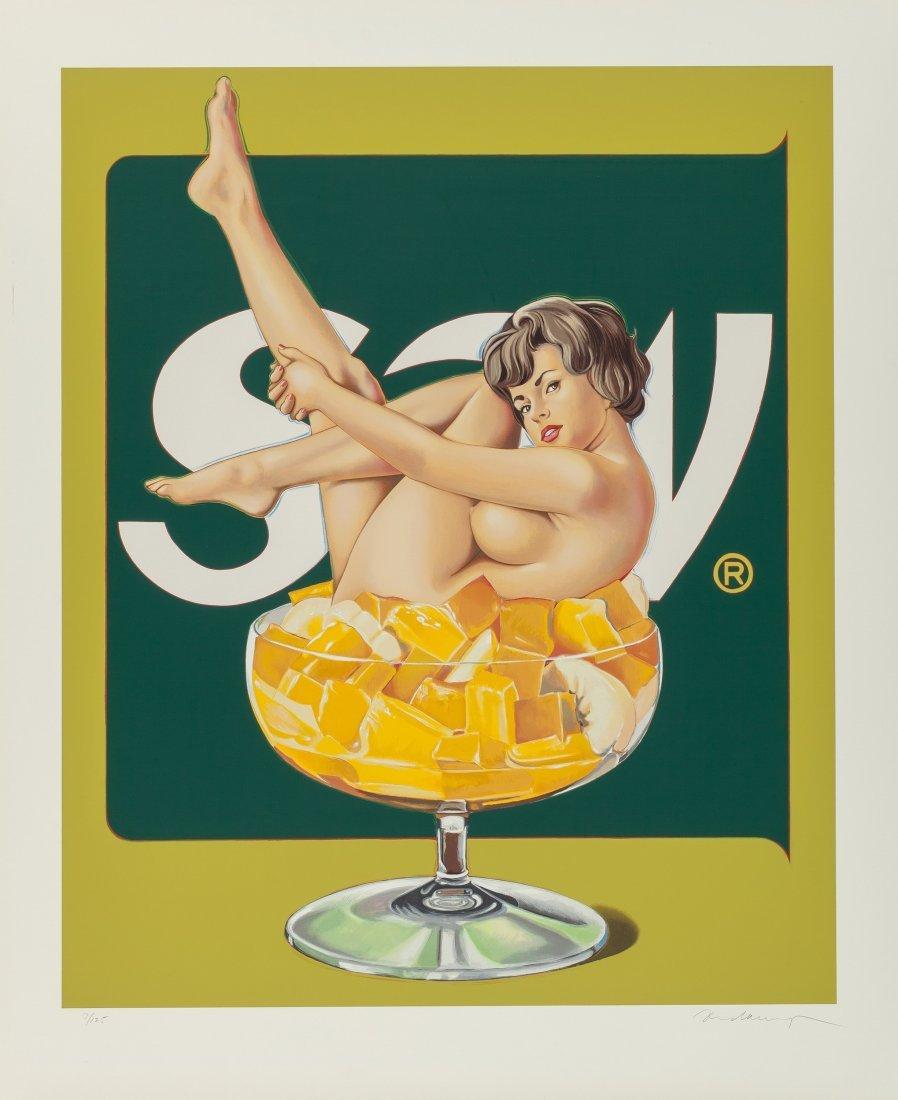77178: Mel Ramos (b. 1935) Miss Fruit Salad, 1990 Scree
