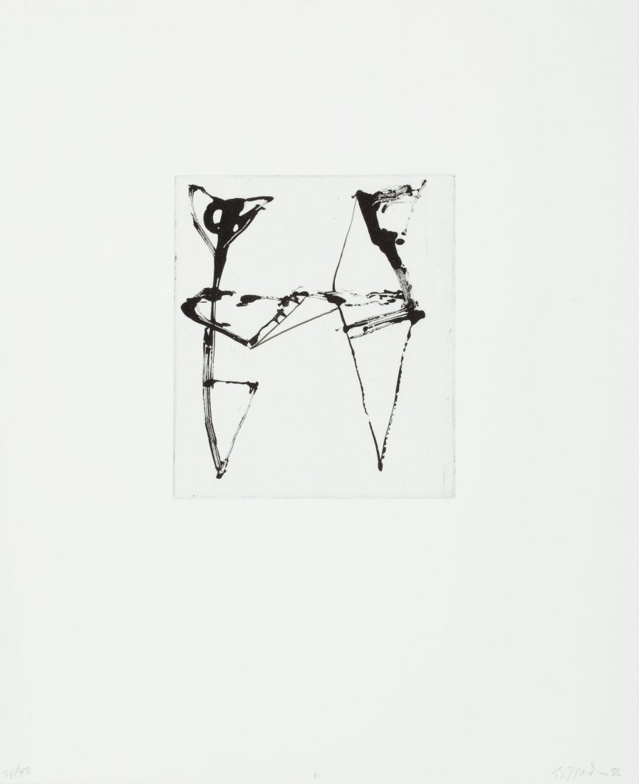 77124: Brice Marden (b. 1938) Etchings to Rexroth, 11,