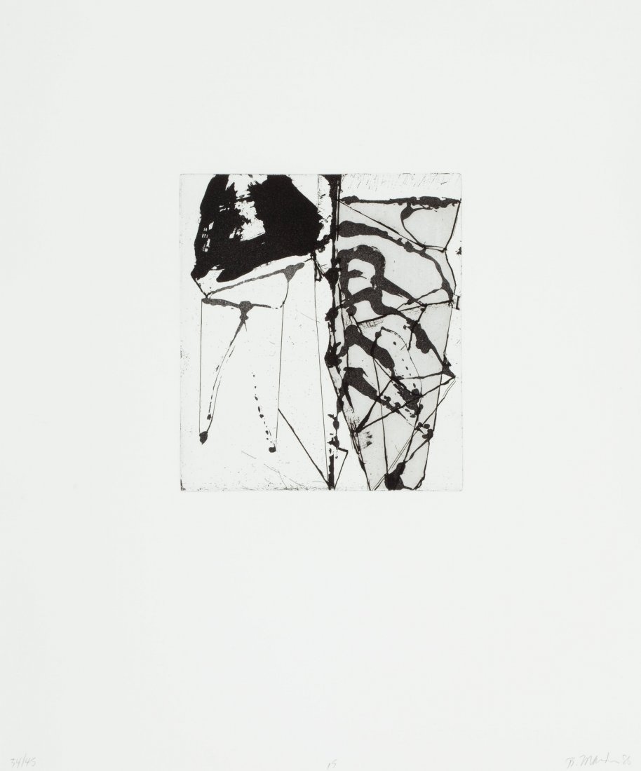77125: Brice Marden (b. 1938) Etchings to Rexroth, 15,