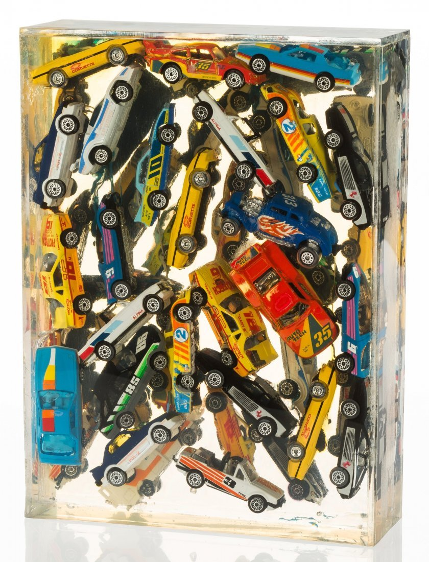 77008: Arman (1928-2005) Car Accumulation (Matchbox Car