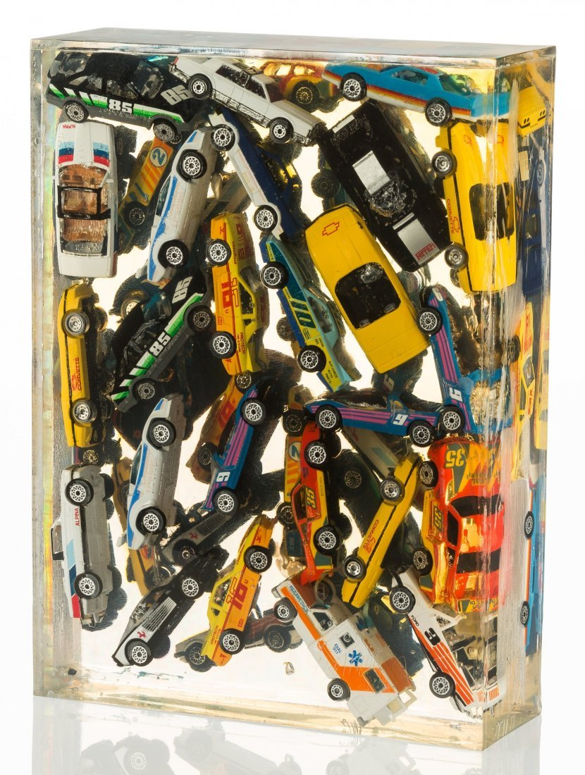 77008: Arman (1928-2005) Car Accumulation (Matchbox Car - 2