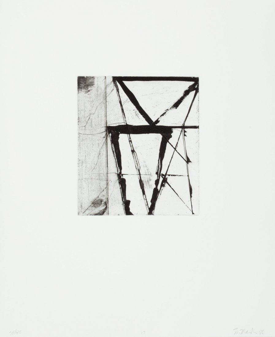 77127: Brice Marden (b. 1938) Etchings to Rexroth, 17,