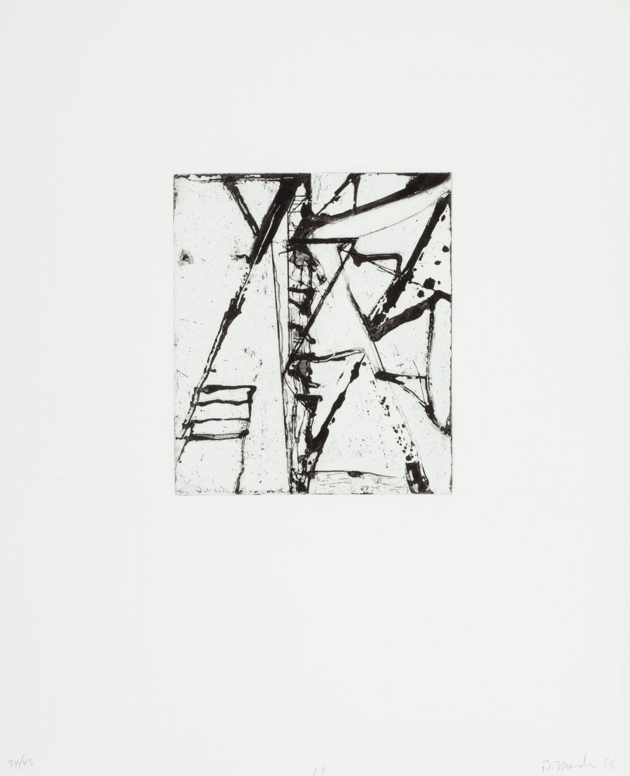 77128: Brice Marden (b. 1938) Etchings to Rexroth, 19,