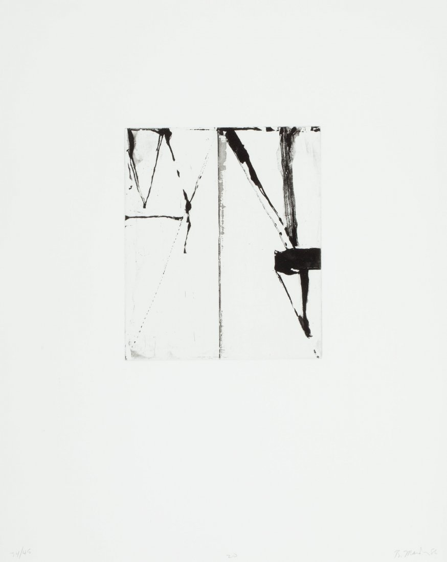 77129: Brice Marden (b. 1938) Etchings to Rexroth, 20,