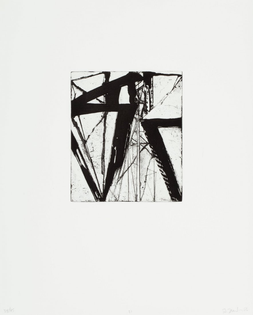 77130: Brice Marden (b. 1938) Etchings to Rexroth, 21,