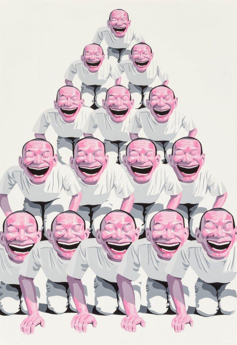77135: Yue Minjun (b. 1962) Pyramid, 2001 Screenprint i