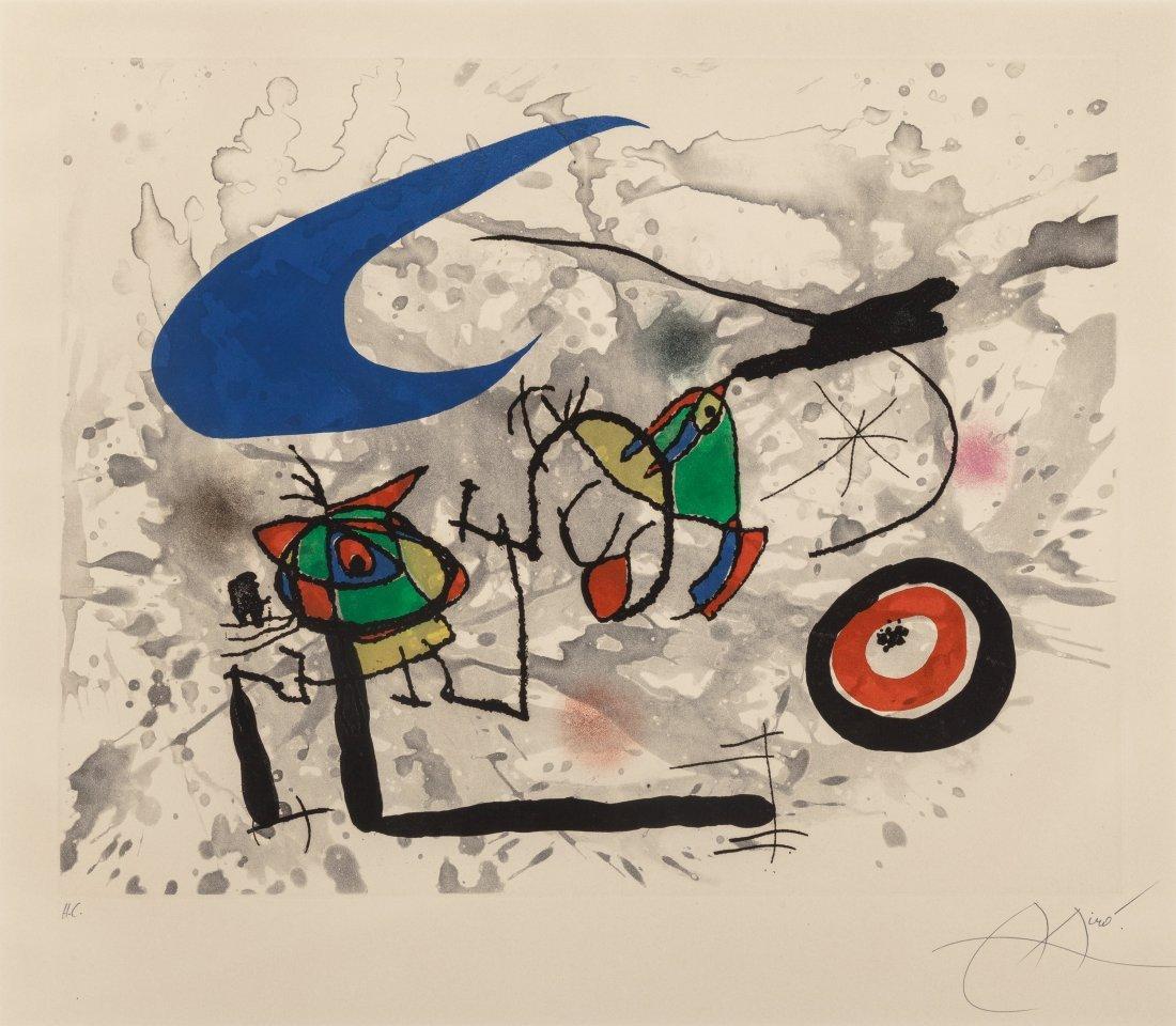 77139: Joan Miró (1893-1983) Pygmées sous la lune, 1972