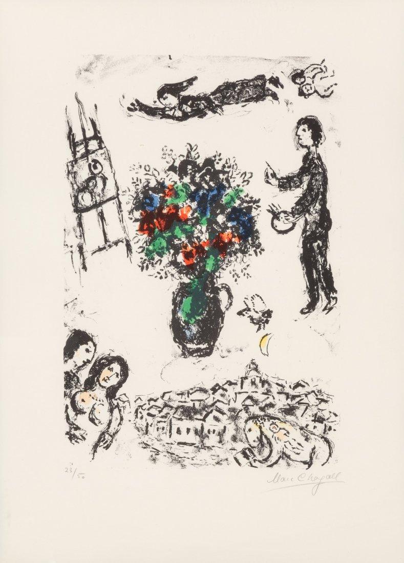 77027: Marc Chagall (1887-1985) Bouquet sur la ville, 1
