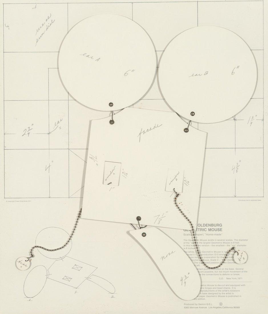 77156: Claes Oldenburg (b. 1929) Geometric Mouse, Scale