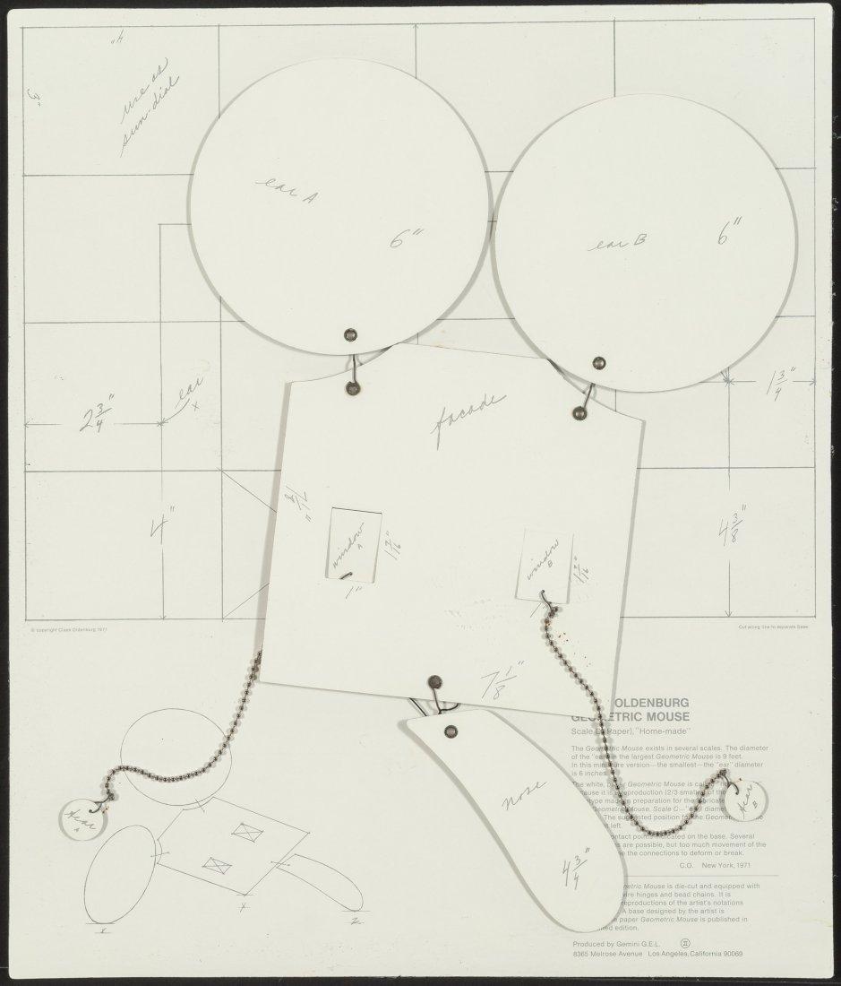 77156: Claes Oldenburg (b. 1929) Geometric Mouse, Scale - 2