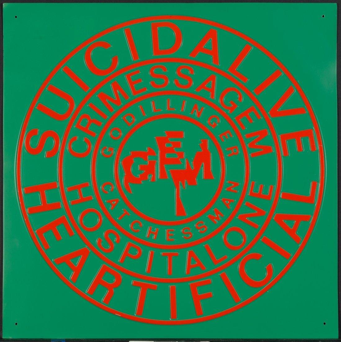 77108: Ferdinand Kriwet (b. 1942) Suicidalive Heartific - 4