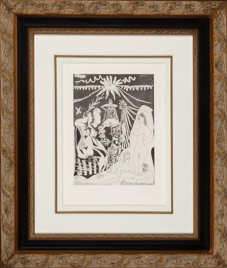 77168: Pablo Picasso (1881-1973) Homme allongé, avec de - 2