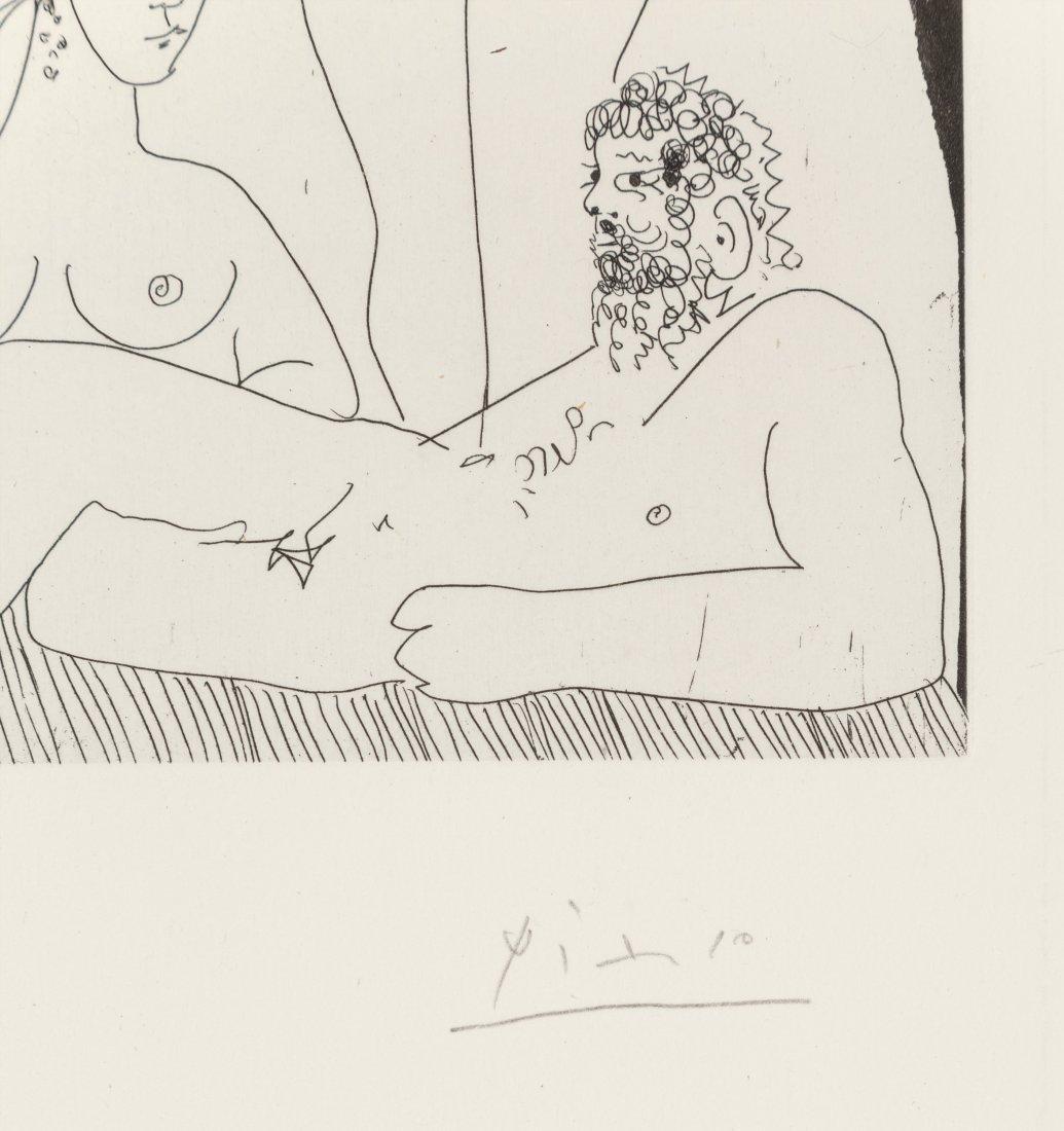 77168: Pablo Picasso (1881-1973) Homme allongé, avec de - 3