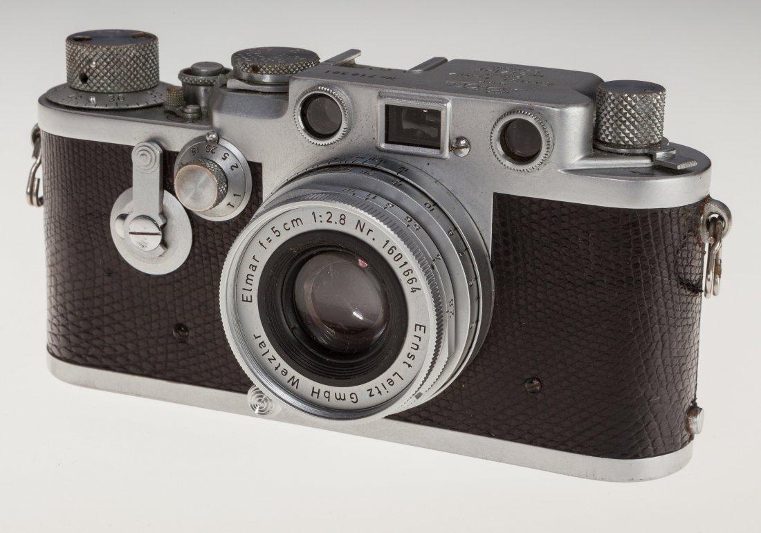 73025: Leica IIIf Black Dial Rangefinder Camera German,