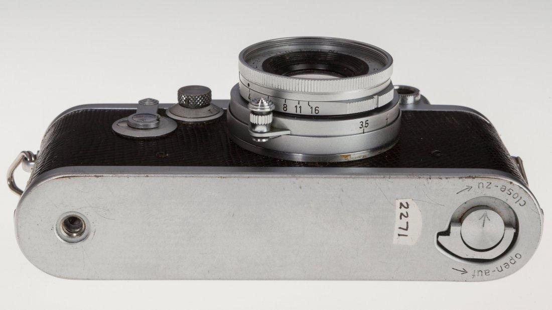 73025: Leica IIIf Black Dial Rangefinder Camera German, - 3