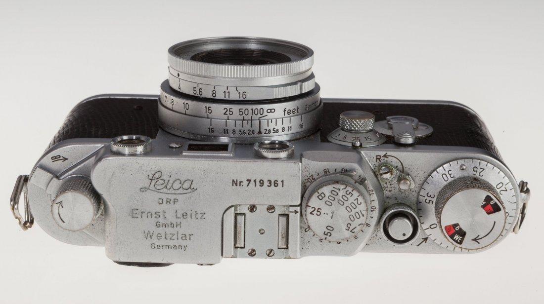 73025: Leica IIIf Black Dial Rangefinder Camera German, - 4