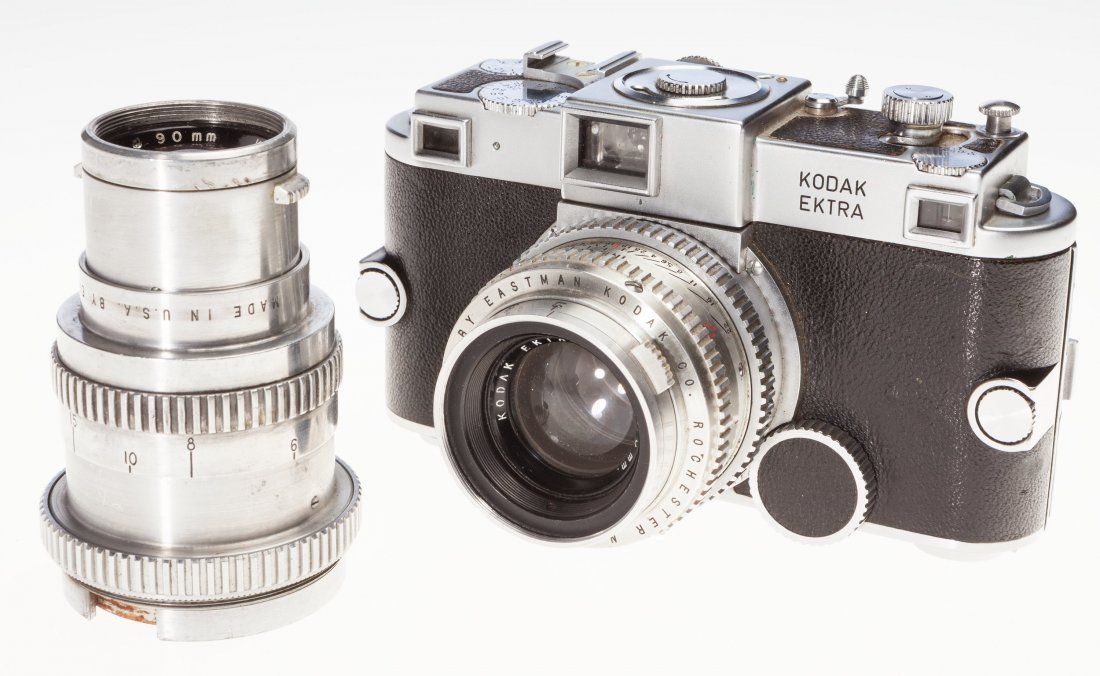 73031: Kodak Ektra Rangefinder Camera Outfit American,