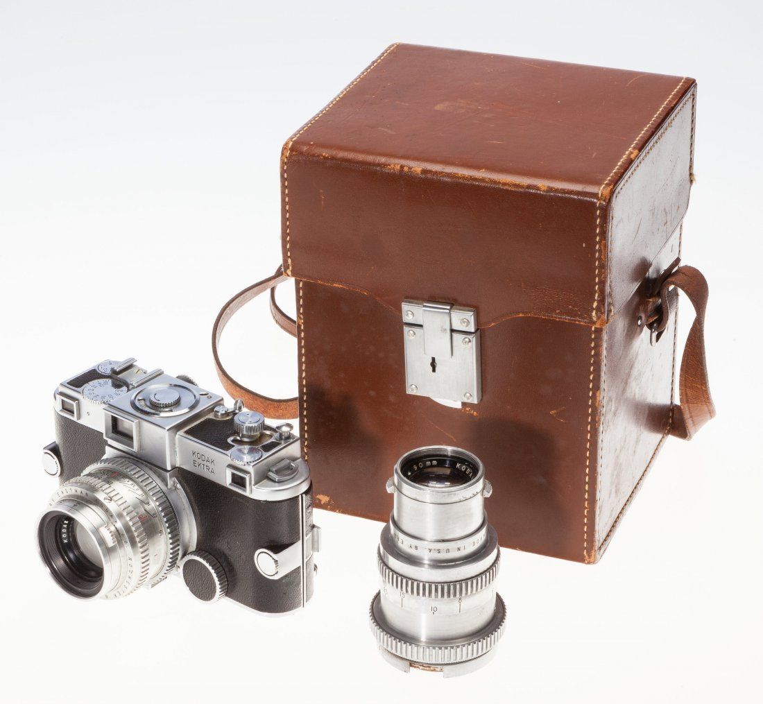 73031: Kodak Ektra Rangefinder Camera Outfit American,  - 5