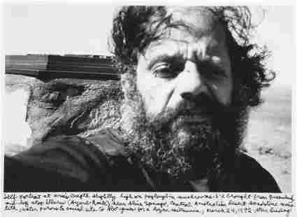 73249: Allen Ginsberg (American, 1926-1997) Self-Portra