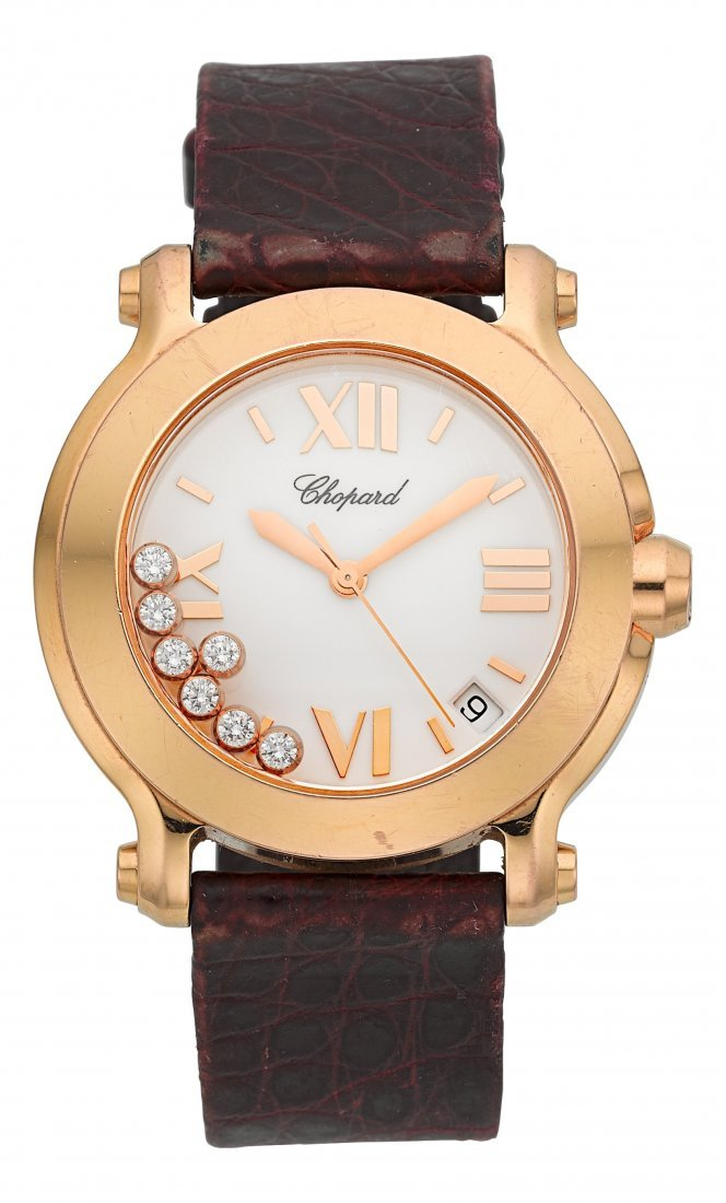 "54006: Chopard Ref. 4183 Pink Gold ""Happy Sport"" Lady's"