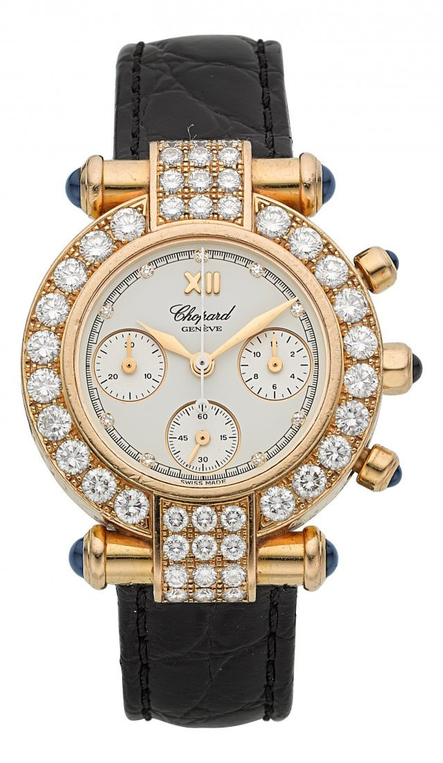 "54007: Chopard ""Imperiale"" Chronograph 18k Gold & Diamo"
