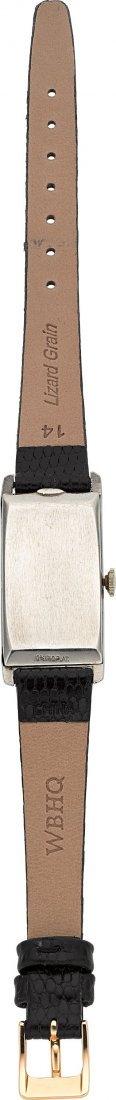 54010: Longines Platinum Diamond Dial Wristwatch  Case: - 3