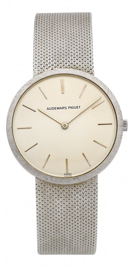 54024: Audemars Piguet 18k White Gold Bracelet Watch Ci