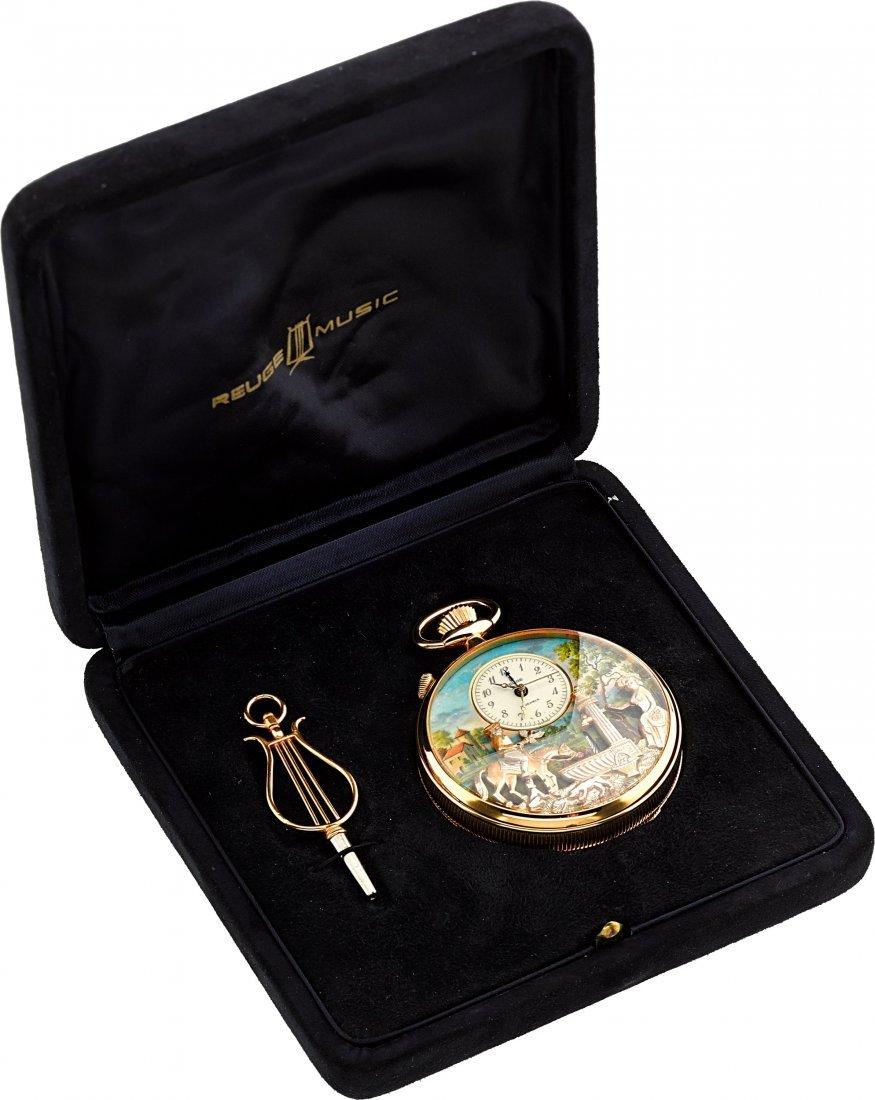 """54058: Reuge """"The Huntsman's Rest"""" Musical Pocket Watch - 4"""