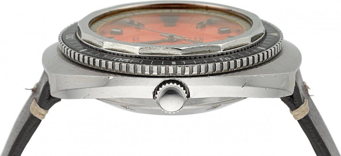 "54131: Gruen ""1500 Feet"" Steel Automatic Diver's Watch  - 2"
