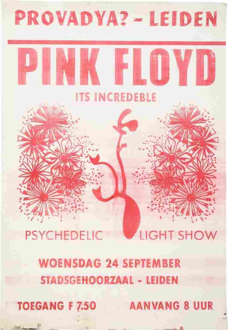 89263: Pink Floyd Stadsgehoorzal Leiden Concert Poster